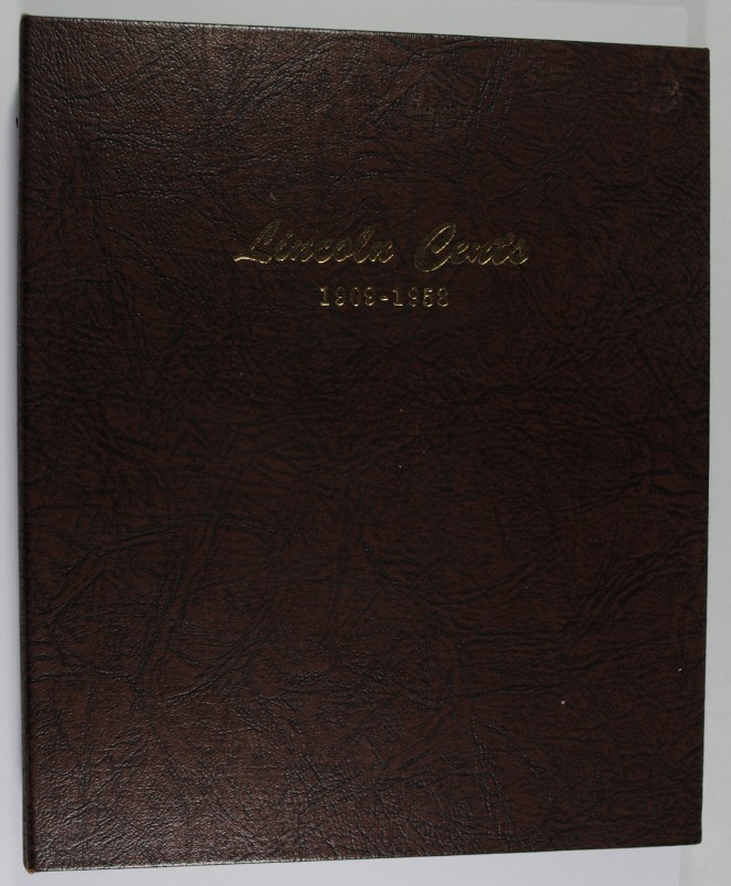 1935 THRU 1958 LINCOLN CENT SET ALL GEM BU RED, IN DANSCO ALBUM
