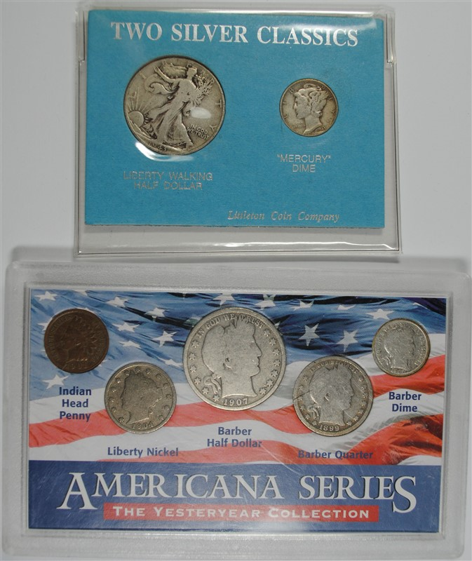 ( 2 ) SILVER COINS SETS: TWO SILVER CLASSICS & AMERICANA SERIES