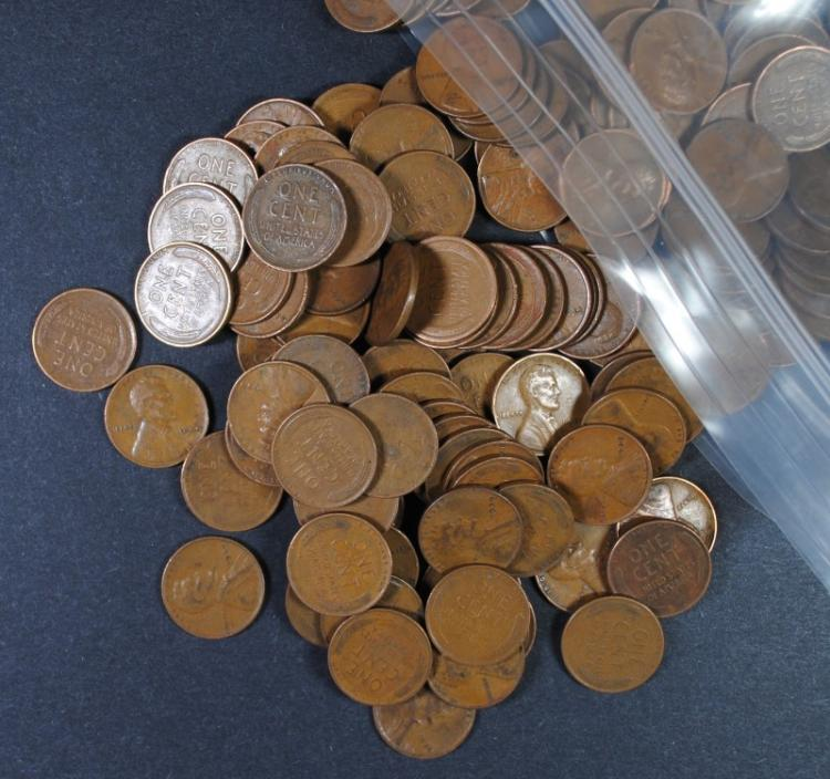 500 MIXED DATE LINCOLN CENTS FROM THE 1930'S
