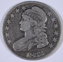 1832 BUST HALF DOLLAR, FINE/VF