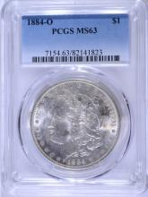 1884-O MORGAN SILVER DOLLAR PCGS MS-63