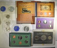 LOT; 1971 & 1972 BLUE IKES in ORG PK, 1980 SBA SOUVENIR SET, 1987 PROOF SET,