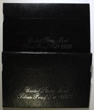 1992 & 1993 U.S. SILVER PROOF SETS IN ORIGINAL  PACKAGING