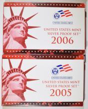 2005 & 2006 U.S. SILVER PROOF SETS IN ORIGINAL PACKAGING