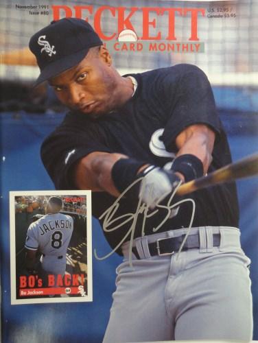Bo Jackson Autographed Beckett Baseball Card Monthly Magazine
