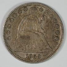 1859 HALF DIME, AU