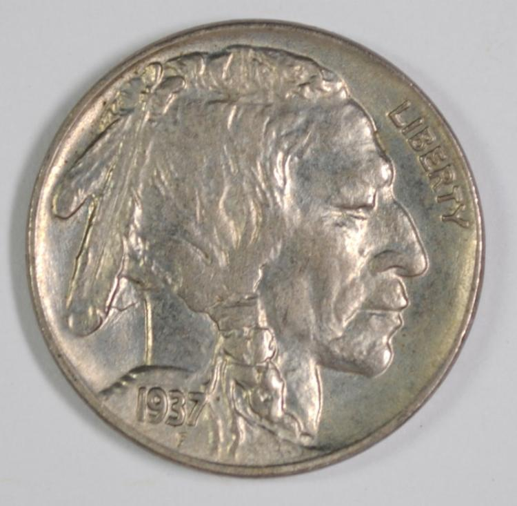 1937 BUFFALO NICKEL, GEM BU