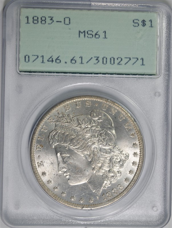 1883-O MORGAN SILVER DOLLAR, PCGS MS-61