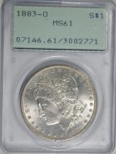 1883-O MORGAN SILVER DOLLAR, PCGS MS-61