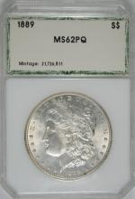 1889 MORGAN SILVER DOLLAR, PCI CHOICE BU