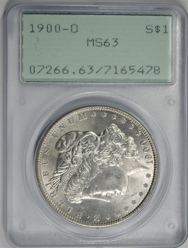 1900-O MORGAN SILVER DOLLAR, PCGS MS-63