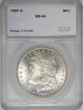 1904-O MORGAN SILVER DOLLAR, SEGS GRADED CH/GEM BU