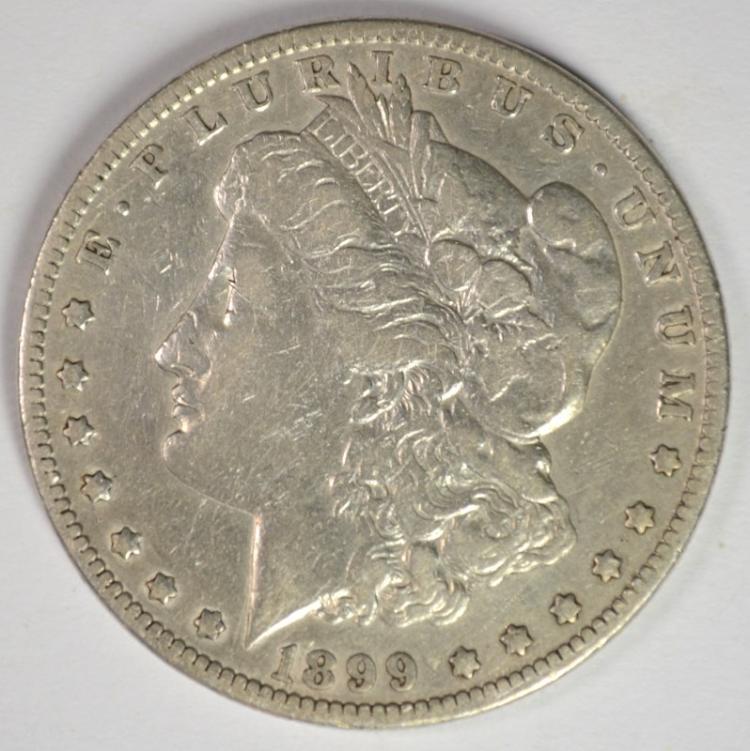 1899 MORGAN SILVER DOLLAR FINE  SEMI-KEY