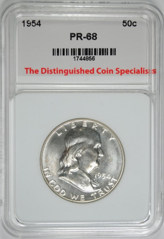 1954 FRANKLIN HALF DOLLAR TDCS SUPERB GEM PROOF PLUS