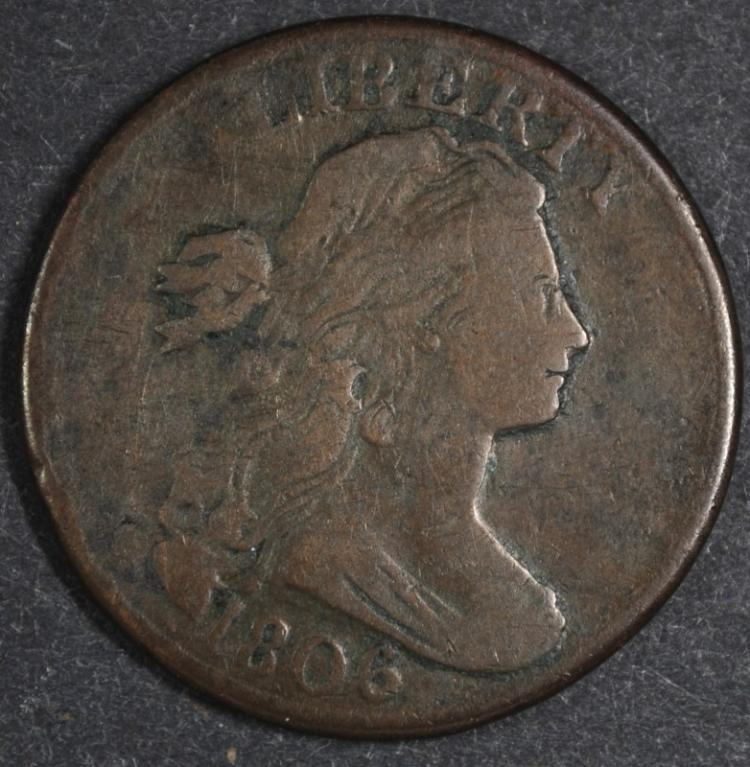 1806 LARGE CENT VF LIGHT POROSITY