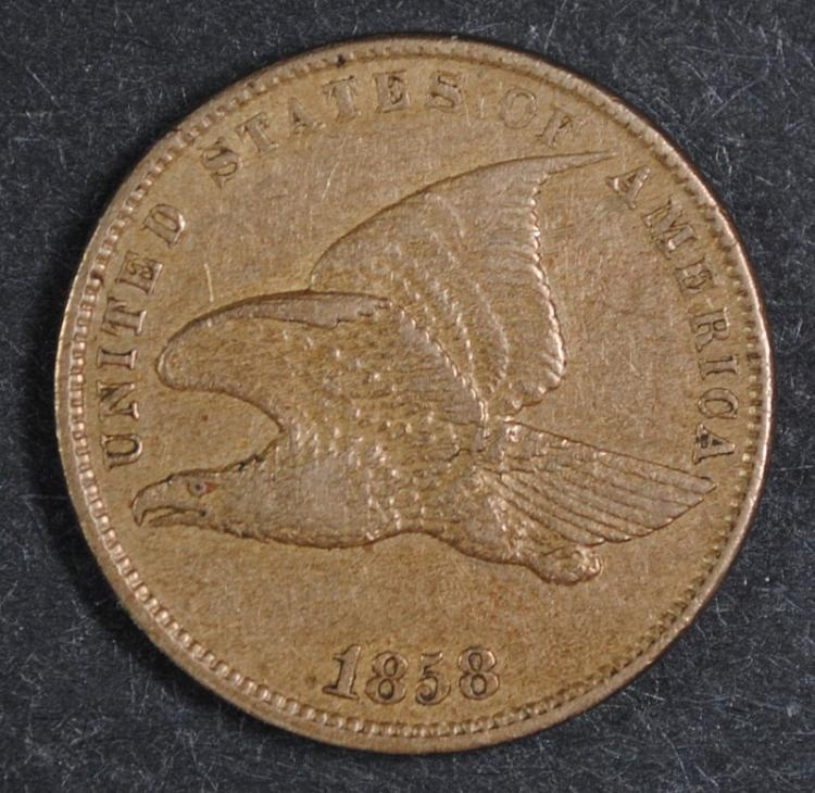 1858 FLYING EAGLE CENT AU