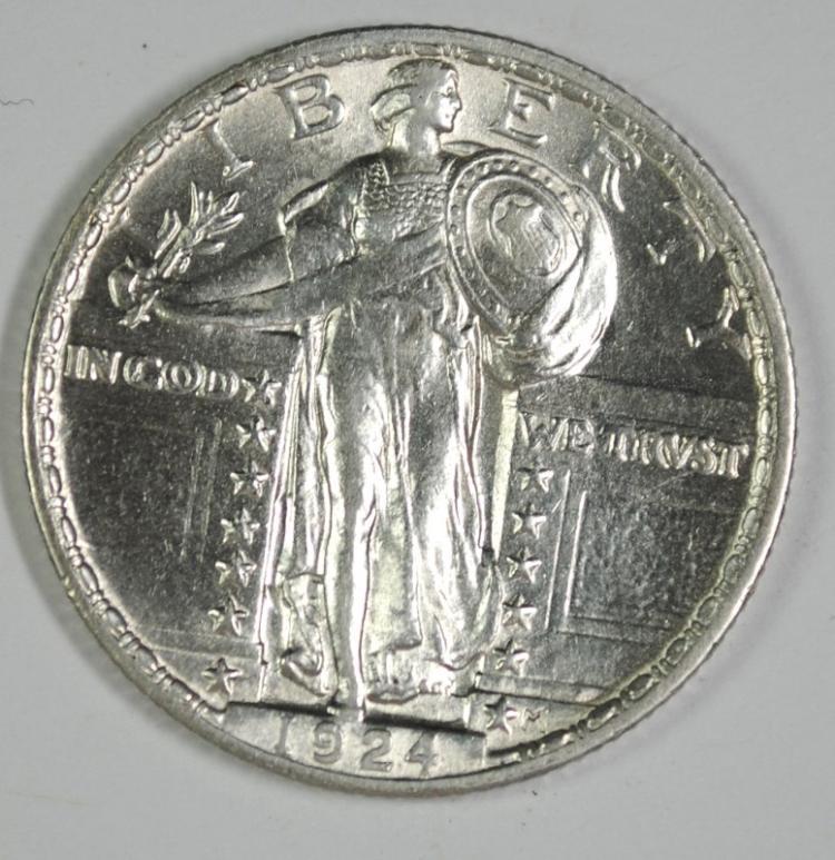 1924 STANDING LIBERTY QUARTER BU