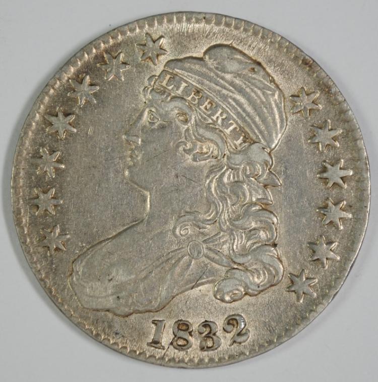 1832 BUST HALF DOLLAR AU