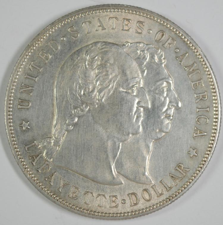 1900 LAFAYETTE COMMEMORATIVE DOLLAR BU LIGHT CLEANING