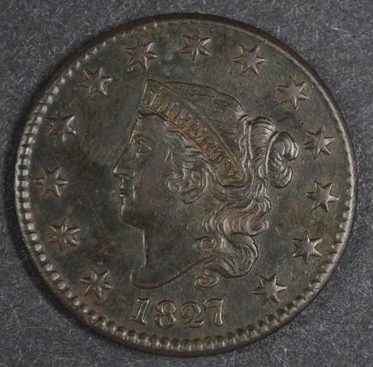 1827 LARGE CENT AU
