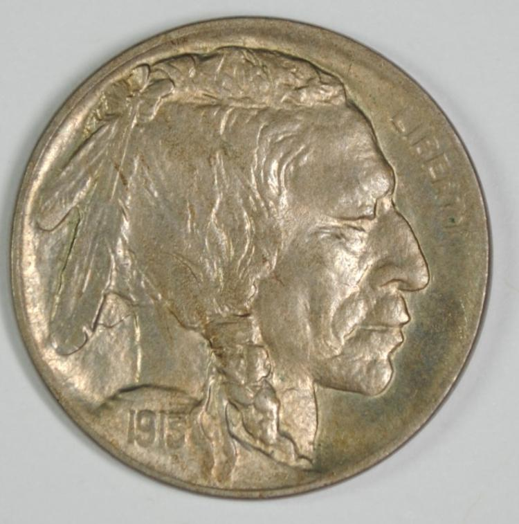 1913-D TYPE 1 BUFFALO NICKEL GEM BU