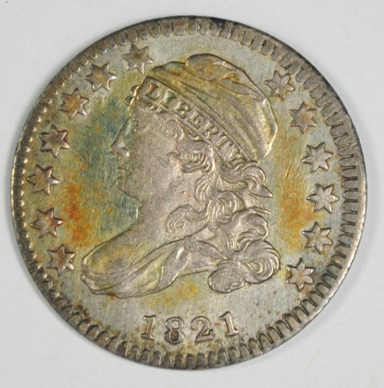 1821 SMALL DATE BUST DIME AU