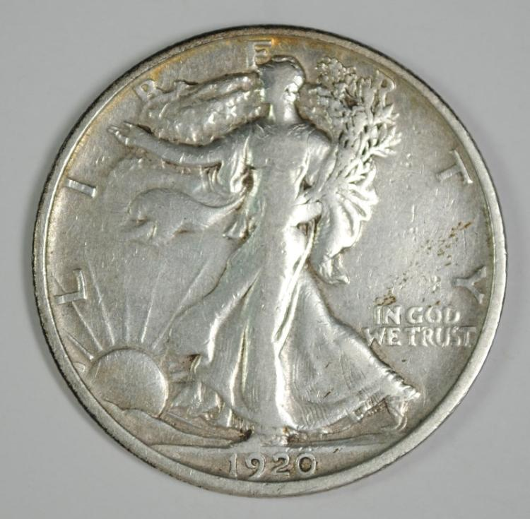 1920-S WALKING LIBERTY HALF VF