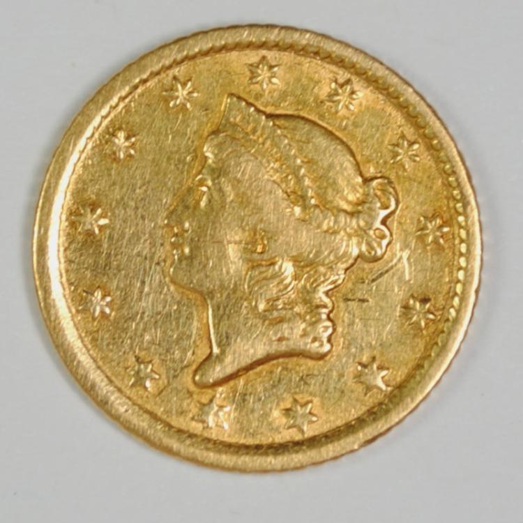 1852-O $1 GOLD DOLLAR AU