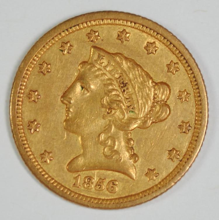 1856-O $2.5 GOLD LIBERTY AU