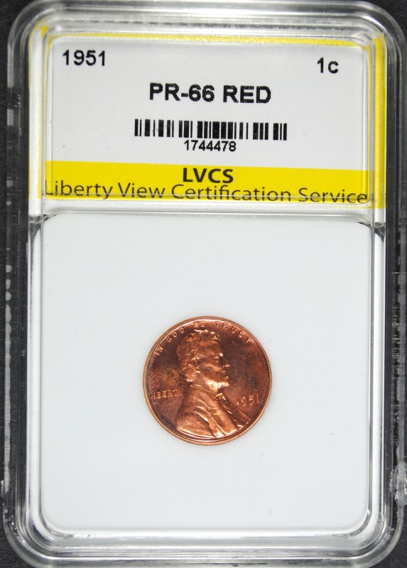 1951 LINCOLN CENT SUPERB GEM PROOF RED