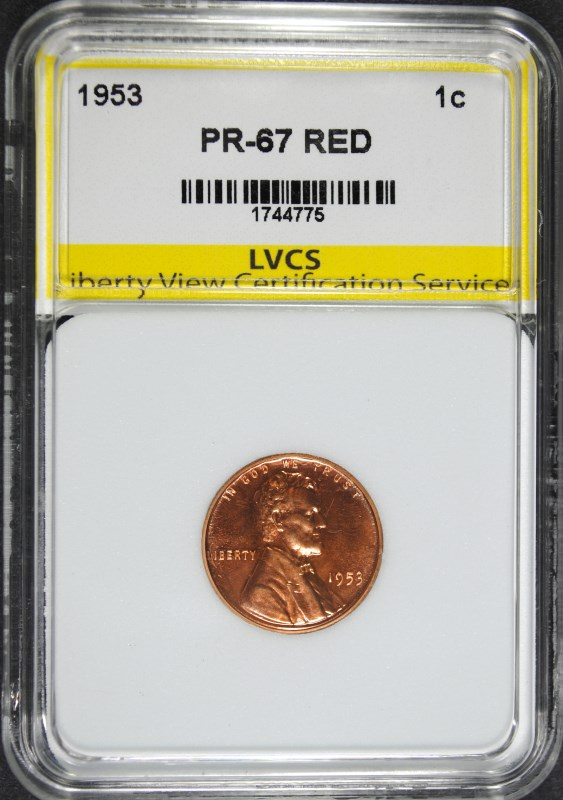 1953 LINCOLN CENT SUPERB GEM PROOF RED