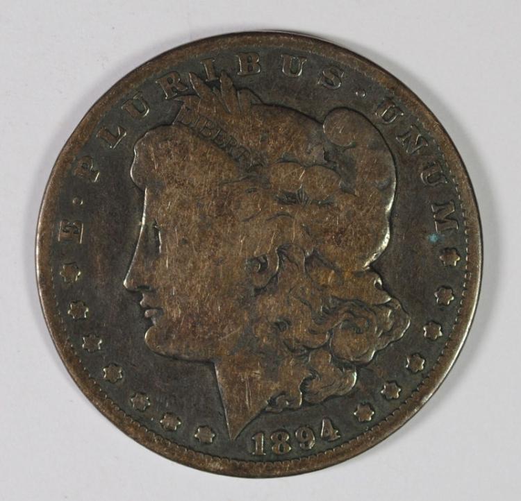 1894-O MORGAN SILVER DOLLAR, VG/FINE