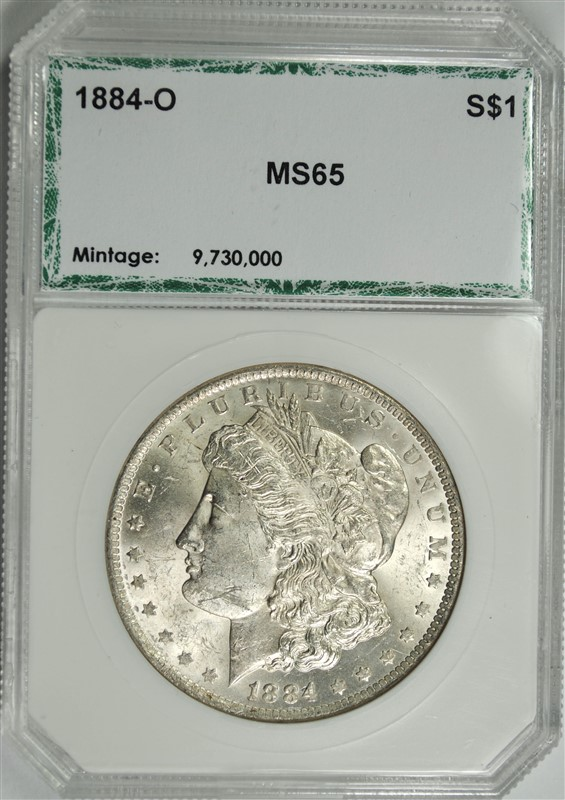 1884-O MORGAN SILVER DOLLAR, PCI GEM BU