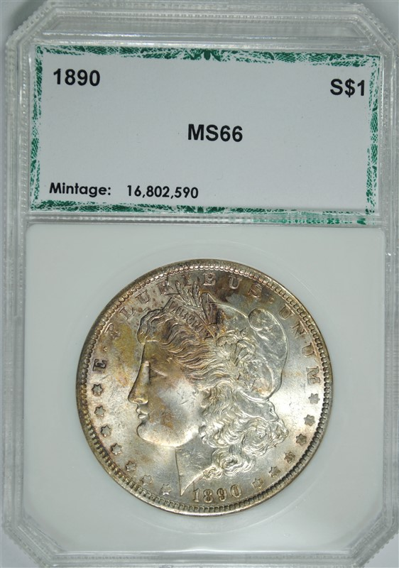 1890 MORGAN SILVER DOLLAR, PCI SUPERB GEM BU
