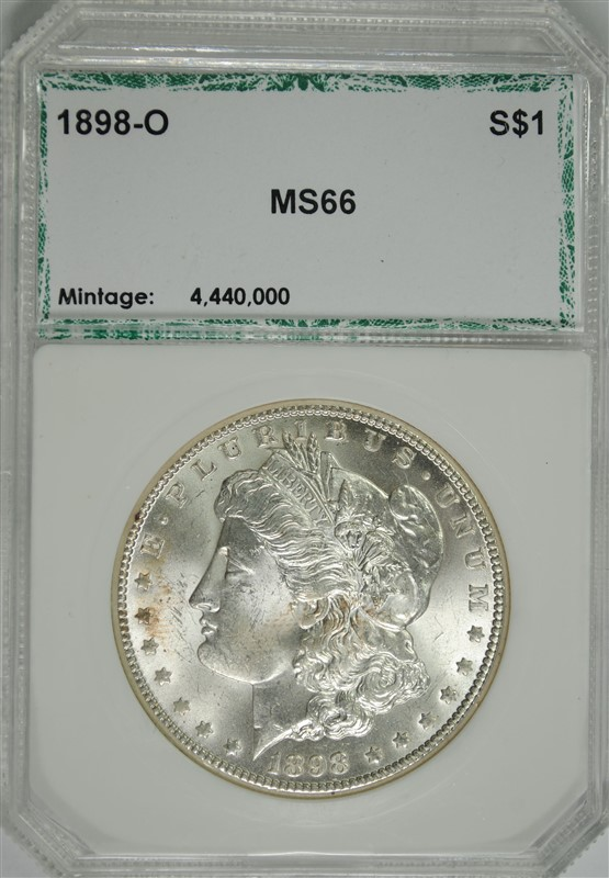 1898-O MORGAN SILVER DOLLAR, PCI SUPERB GEM BU