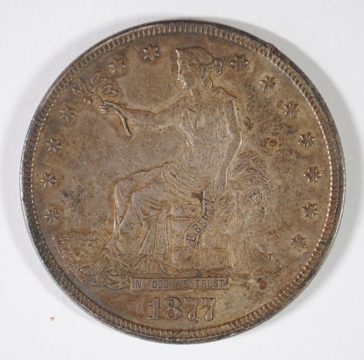 1877 TRADE DOLLAR AU