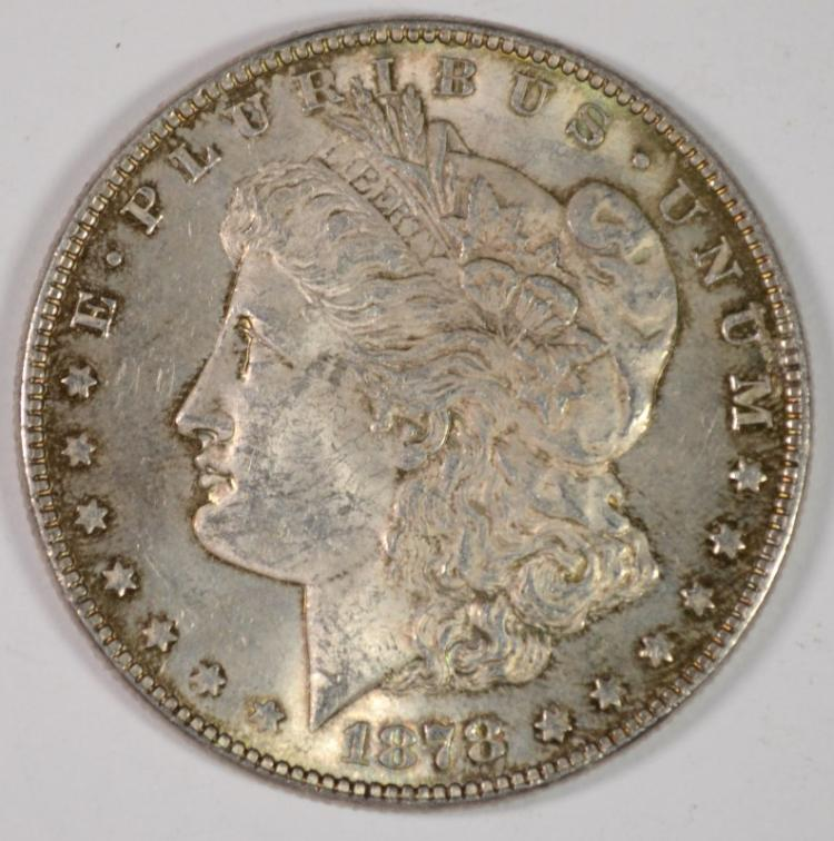 1878 7 TF MORGAN DOLLAR AU/BU