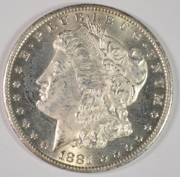 1881-CC MORGAN DOLLAR CH BU