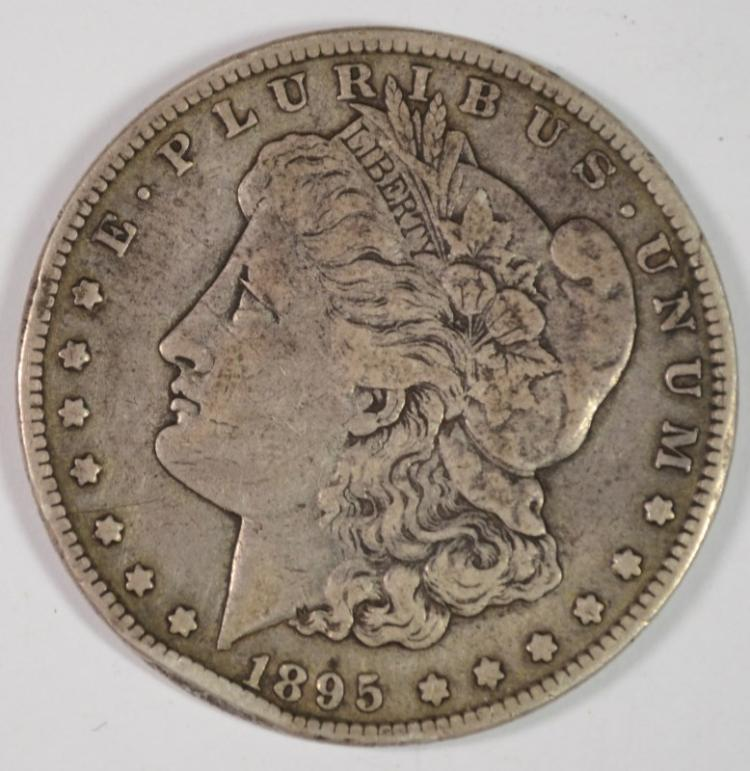 1895-S MORGAN DOLLAR VF RIM BUMP OBV.