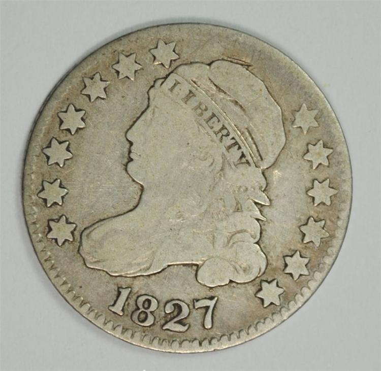 1827 BUST DIME  FINE