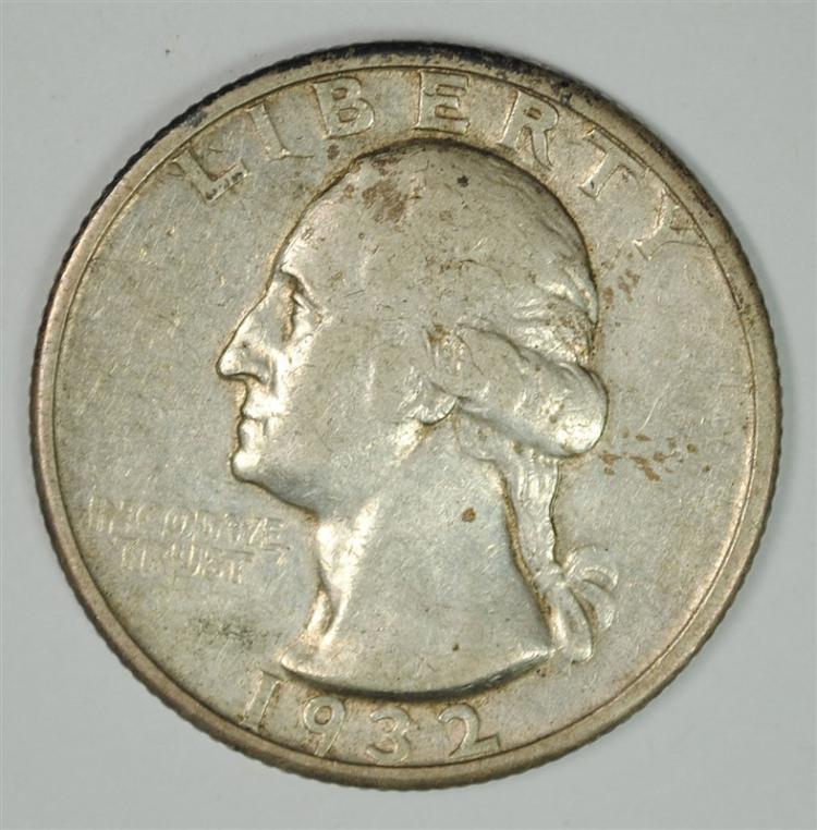 1932-S WASHINGTON QUARTER XF / AU - KEY DATE