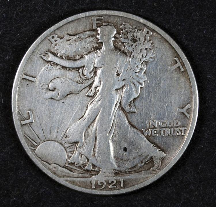 1921-S WALKING LIBERTY HALF DOLLAR VF KEY DATE