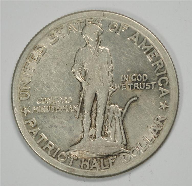 1925 LEXINGTON-CONCORD COMMEMORATIVE HALF DOLLAR, XF
