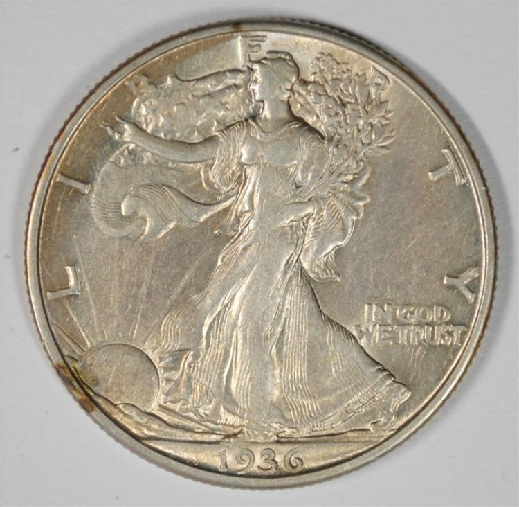 1936-D WALKING LIBERTY HALF CH AU