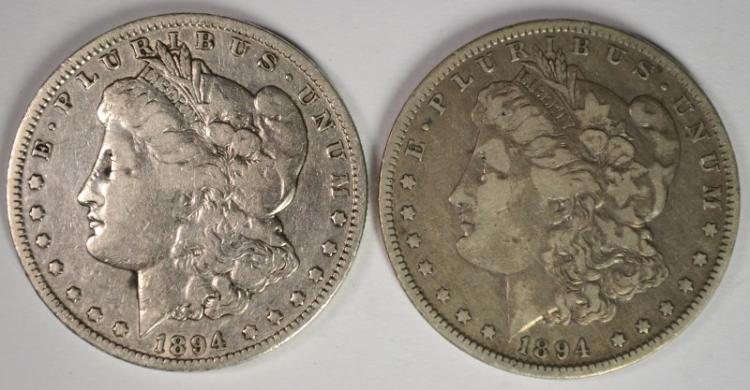 2 - 1894-O MORGAN SILVER DOLLAR FINE