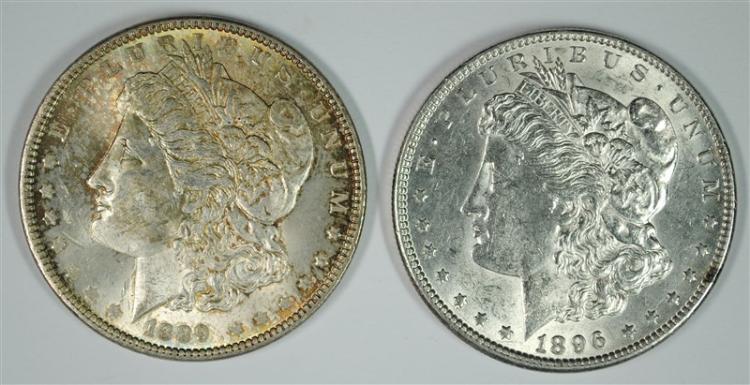 1889, & 1896 MORGAN DOLLARS CH BU