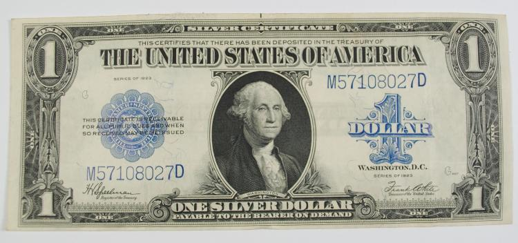 1923 $1 LARGE SILVER CERTIFICATE - VF+