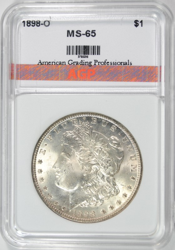 1898-O MORGAN SILVER DOLLAR AGP GEM BU