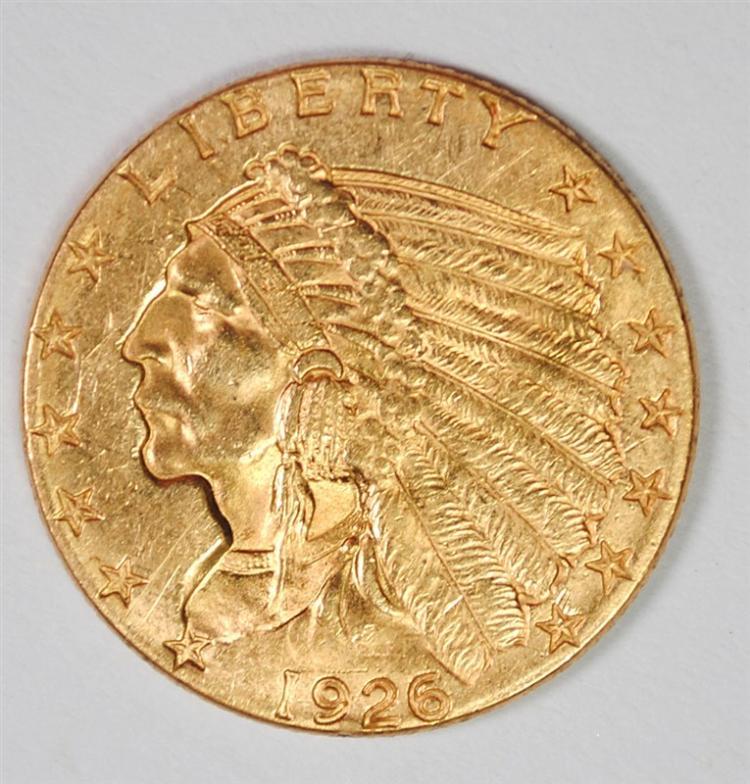 1926 $2.5 GOLD INDIAN BU