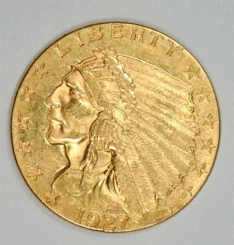 1927 $2.5 GOLD INDIAN BU